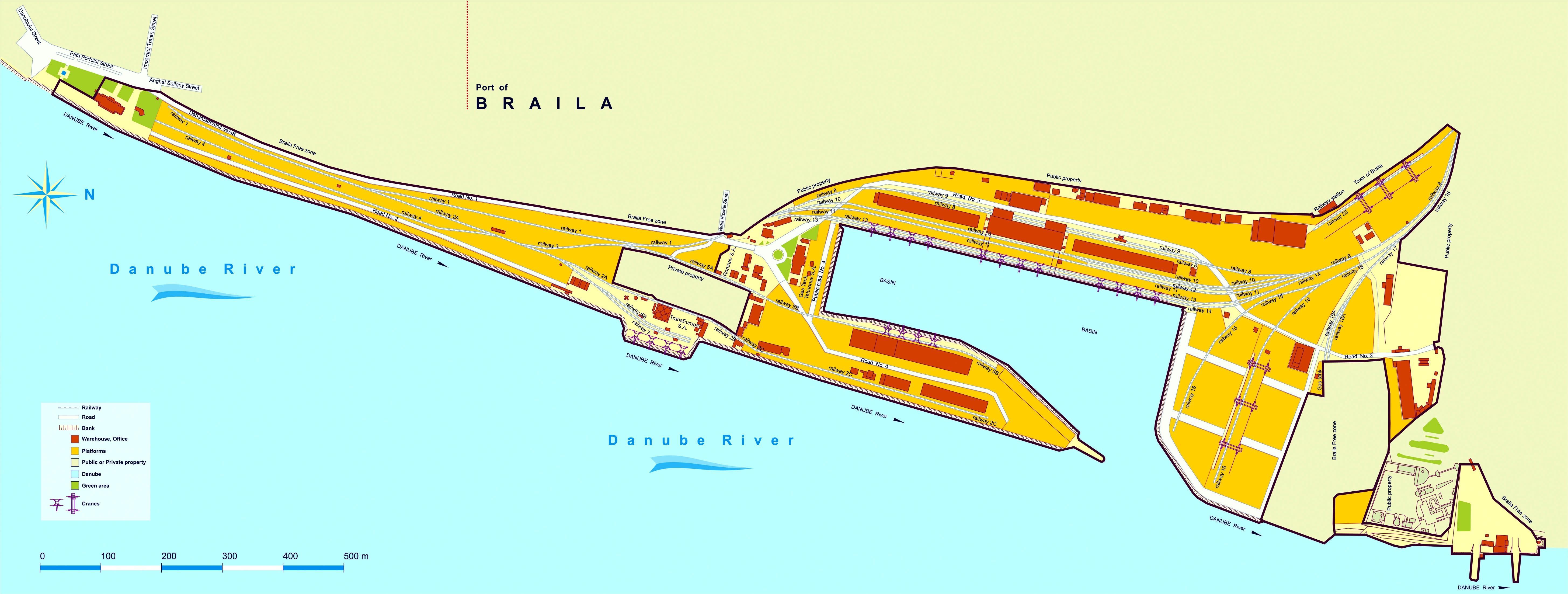 Harta Strategică De Zgomot A Portului Braila